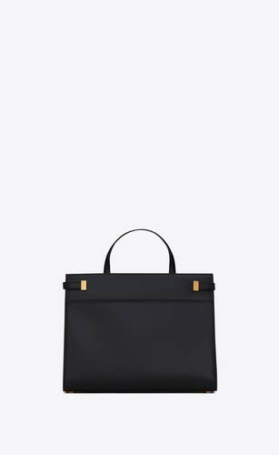 manhattan kleiner shopper aus box saint laurent leder