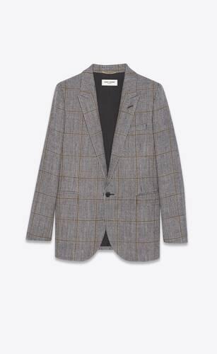 single-breasted jacket in wool