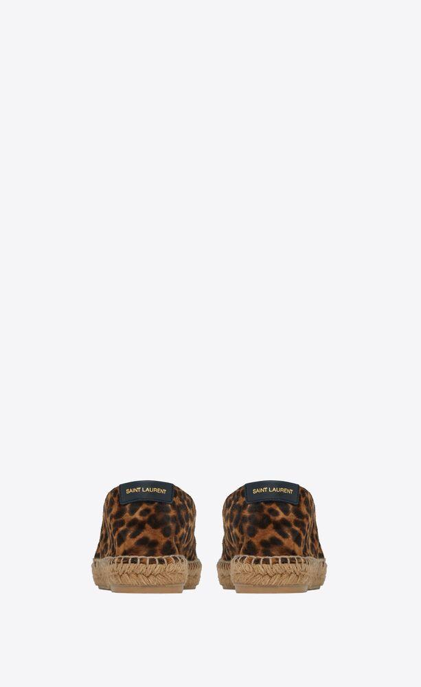 espadrilles aus veloursleder mit leoparden-print