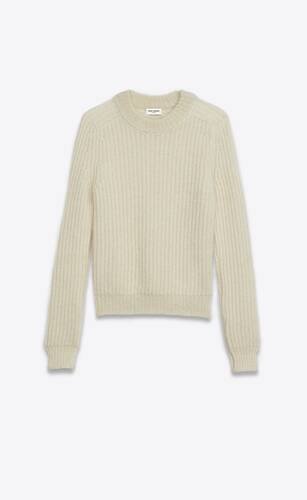 rib-knit sweater in cashmere and mohair