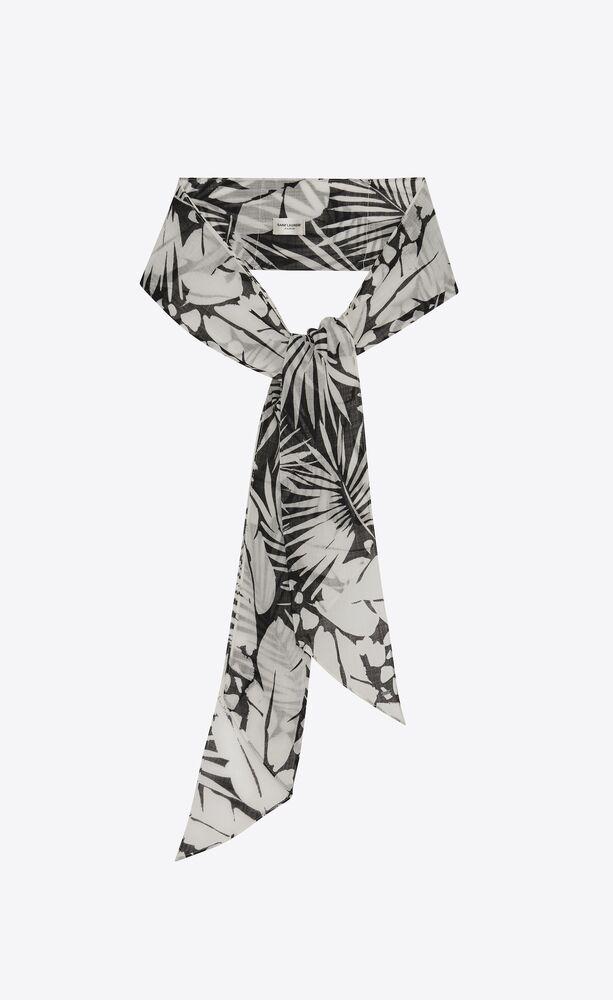 tropical lavallière scarf in wool etamine