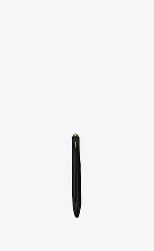 pochette porta tablet monogram in pelle di coccodrillo goffrata