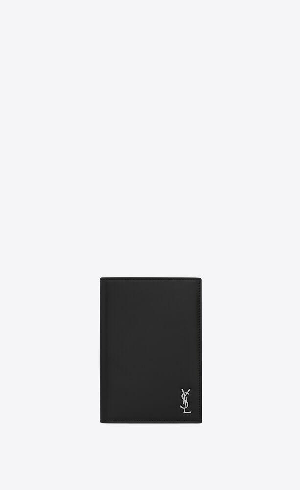 tiny monogram passport case in matte leather
