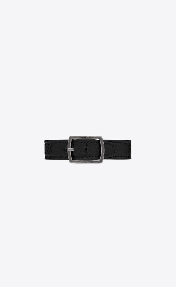 belt bracelet in snake-embossed lambskin