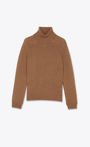 jersey con cuello vuelto de lana