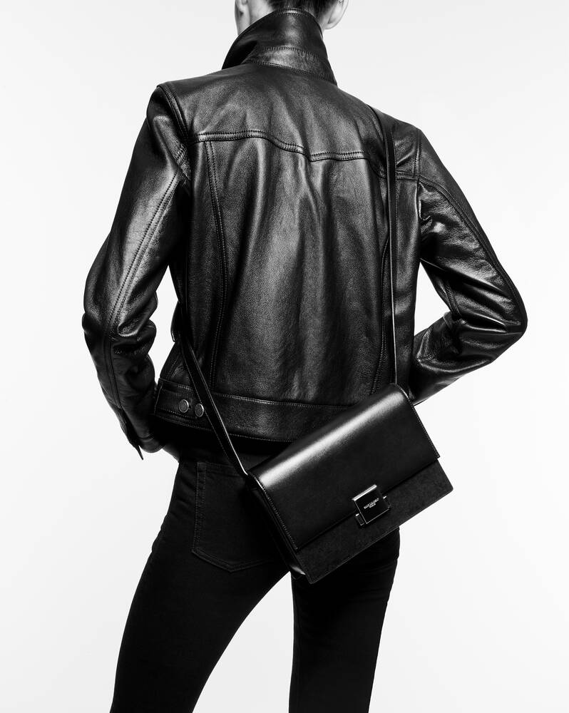 bellechasse saint laurent medium in smooth leather and suede
