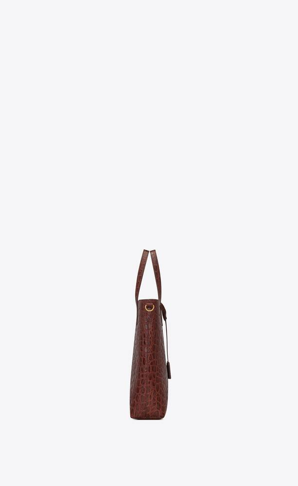 shopping bag saint laurent n/s toy in pelle di coccodrillo goffrata