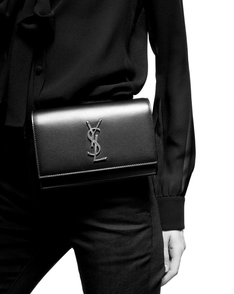 kate belt bag in crocodile-embossed shiny leather