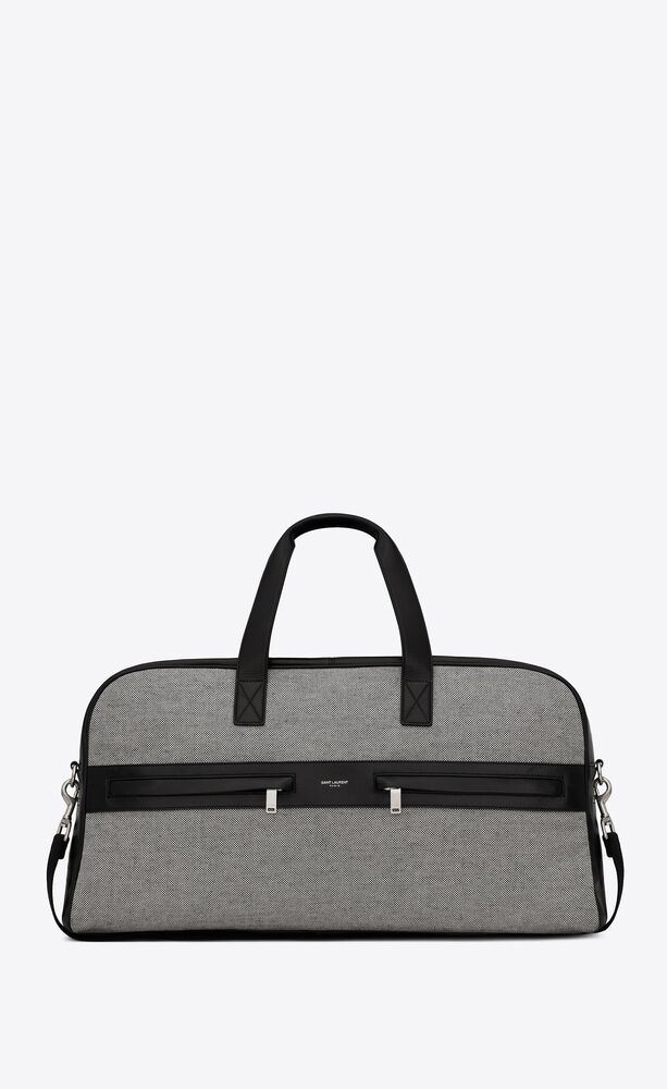 camp duffle bag in cotton and lambskin