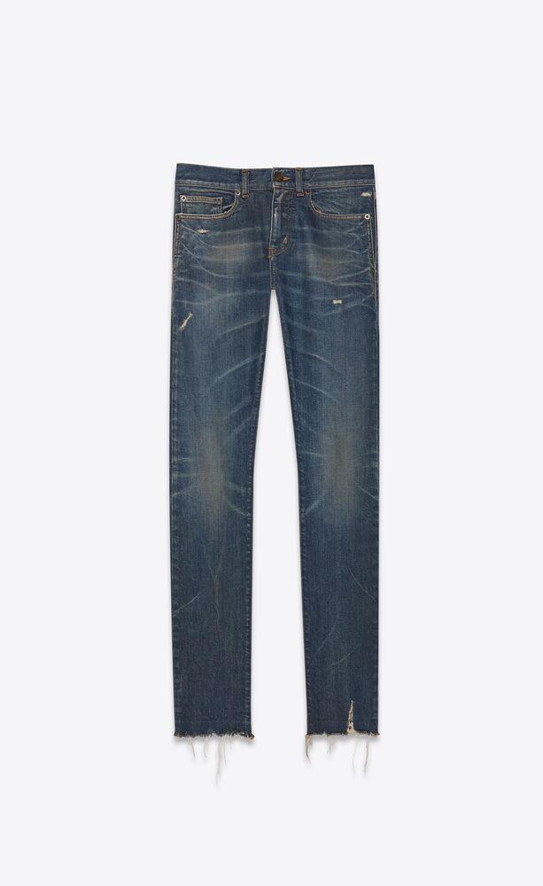 skinny-fit jeans in blue moon stretch denim