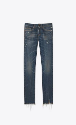 skinny-fit jeans in blue moon stretch denim