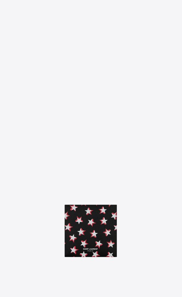 stars print fabric mask