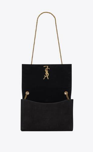 kate medium reversible bag in crocodile-embossed nubuck
