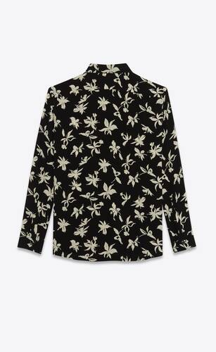 wild orchid shirt in silk crepe de chine