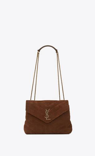 loulou small bag with rope monogram in suede