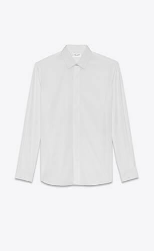 yves collar shirt in cotton poplin