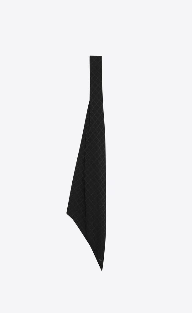 diamond lavallière scarf in silk jacquard