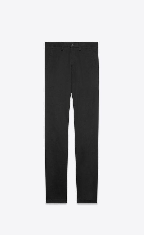 chino pants in black raw stretch gabardine