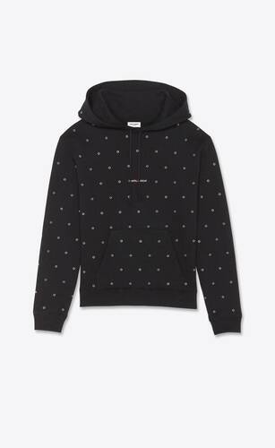 saint laurent rive gauche hoodie with eyelets