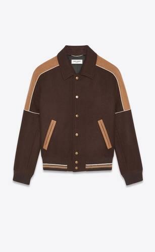 teddy jacket in wool felt