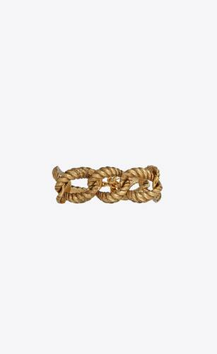 large rope chain bracelet in 18k yellow gold