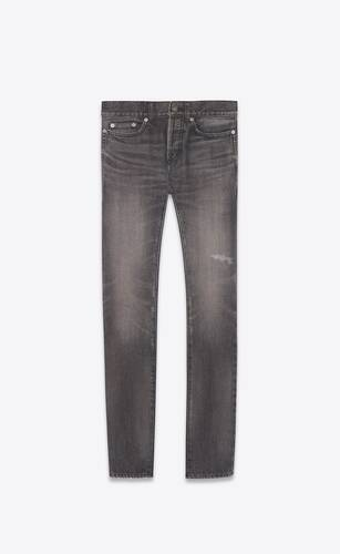 slim-fit jeans in vintage dirty gray denim