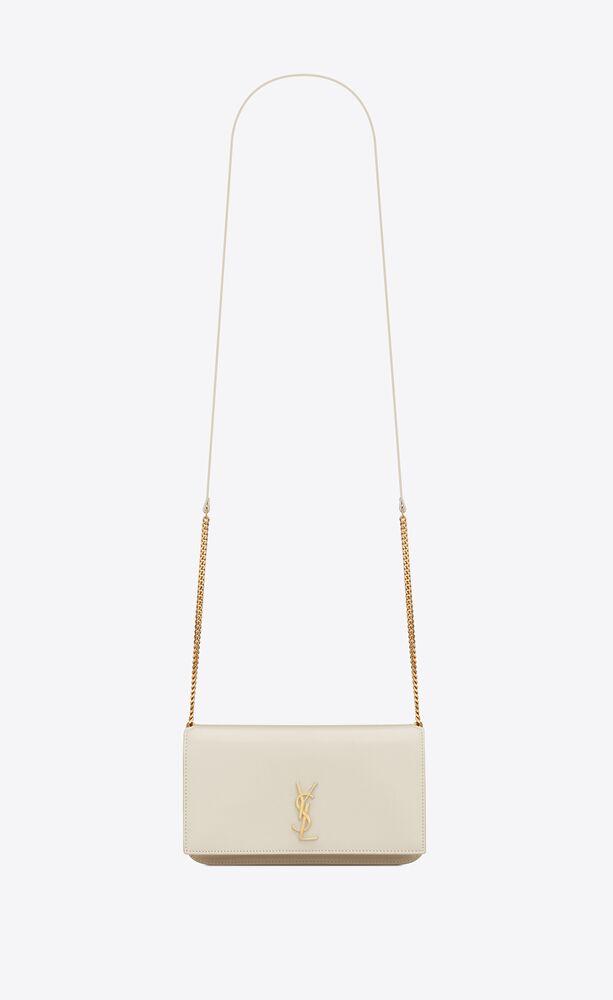 monogram handyhülle mit riemen aus glattleder