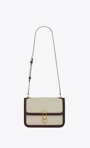 le carre satchel in horsehair and box saint laurent leather