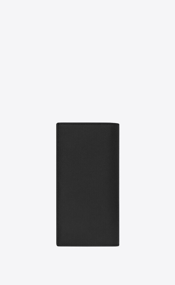 monogram portefeuille continental en cuir embossé grain de poudre