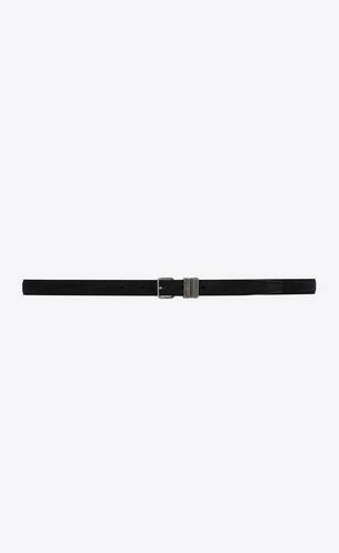 stacked-loop thin belt in suede