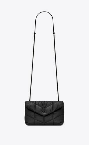 loulou puffer toy bag in quilted wrinkled matte leather