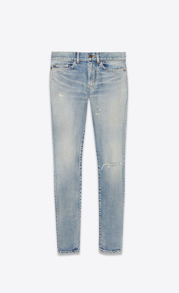 skinny-fit jeans in santa monica blue denim