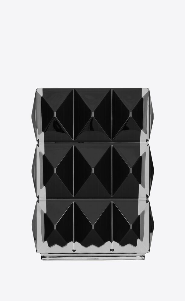 baccarat luxor vase in black crystal
