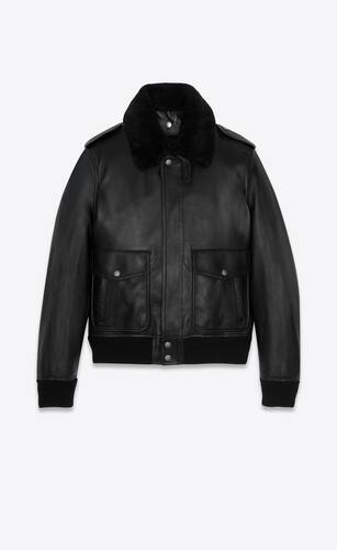 leather and shearling bomber