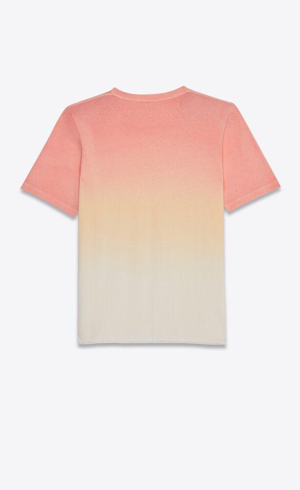 ribbed tie-dye sunset t-shirt