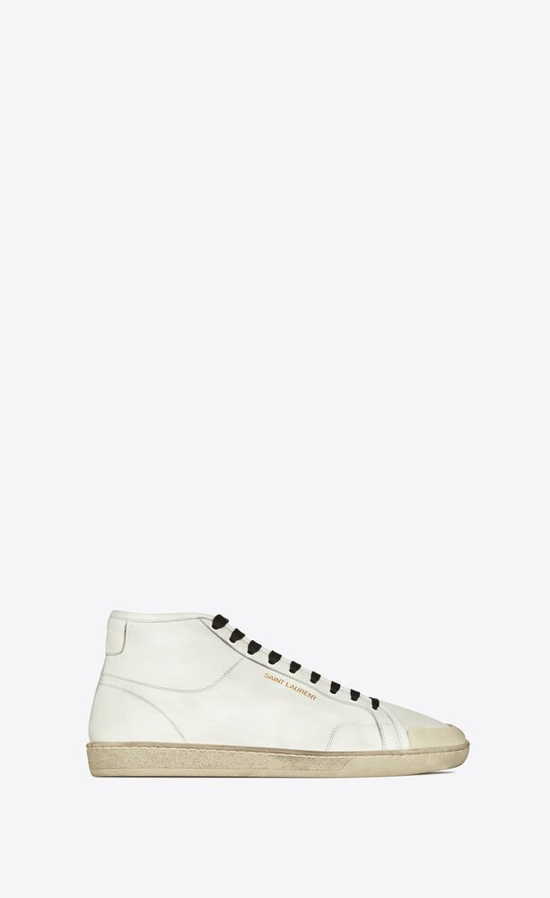 court classic sl/39 mid-top sneakers in grained leather