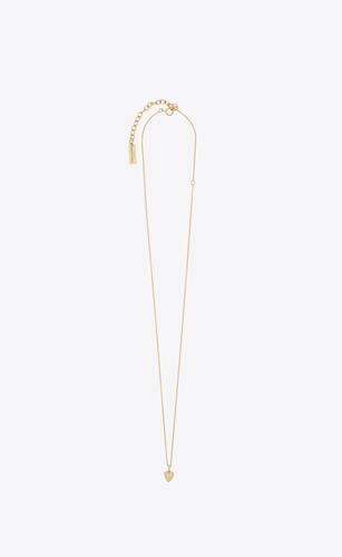 collier à pendentif cœur miniature en or 18k