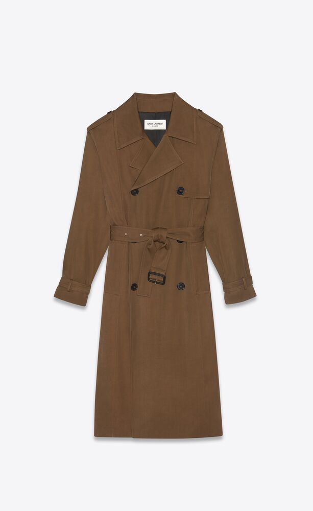 trench in twill