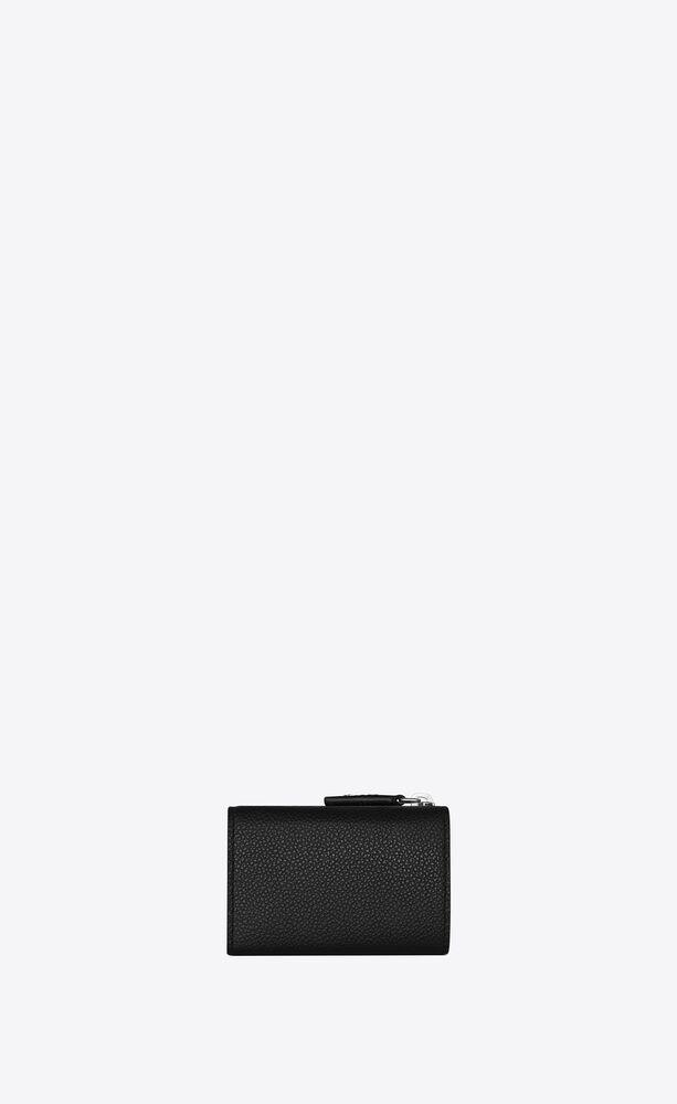rive gauche extrakleines portemonnaie mit reißverschluss aus genarbtem leder