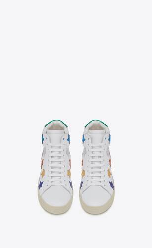 court classic sl/06 metallic california high-top sneakers in leather