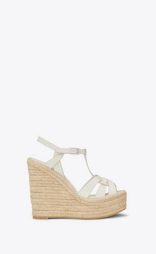 tribute espadrilles wedge in smooth leather