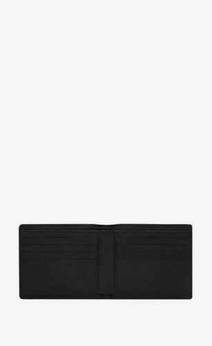 saint laurent paris east/west wallet in tropical-print grain de poudre embossed leather