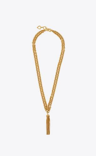 tassel necklace in metal