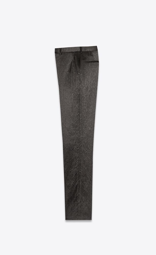 tailored pants in flammé shantung