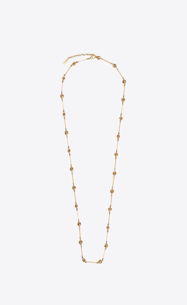 knoten- und mehrgelenk-halskette aus metall