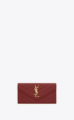 monogram large flap wallet in quilted grain de poudre embossed leather