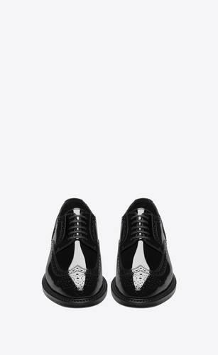 army derbies in patent leather