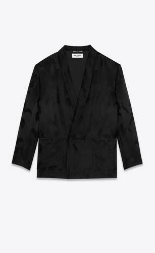 パームサテンジャカードのローブジャケット
