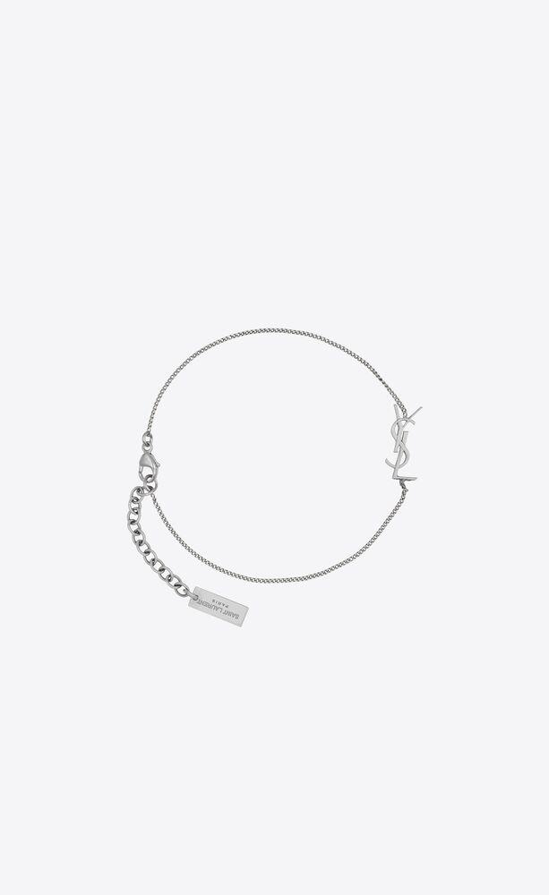 opyum bracelet à charm en métal