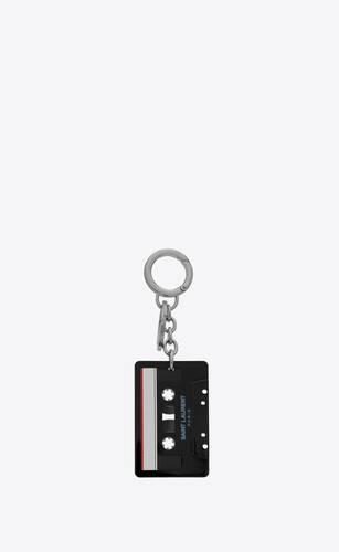 saint laurent cassette tape keyring